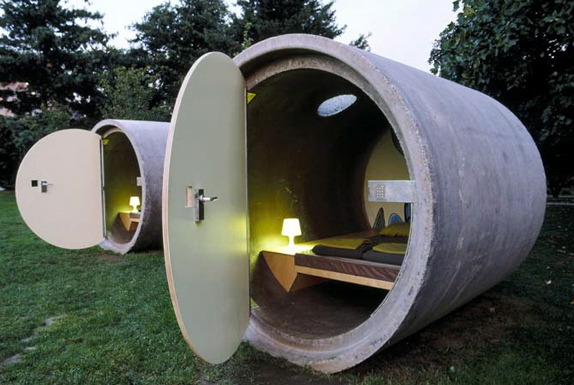 Spend the Night in a Pipe