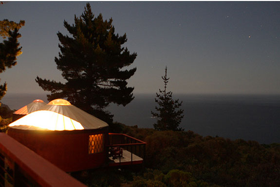 "Yurt ""Camping"" on the California Coast"