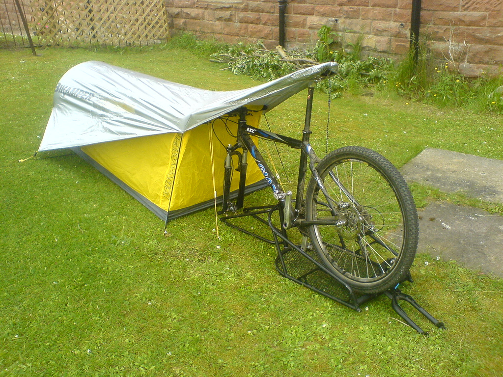 bik&er1 575x431 Bik&er ... & A Review Of The Lightweight Bikamper Bicycle Tent | Spot Cool ...