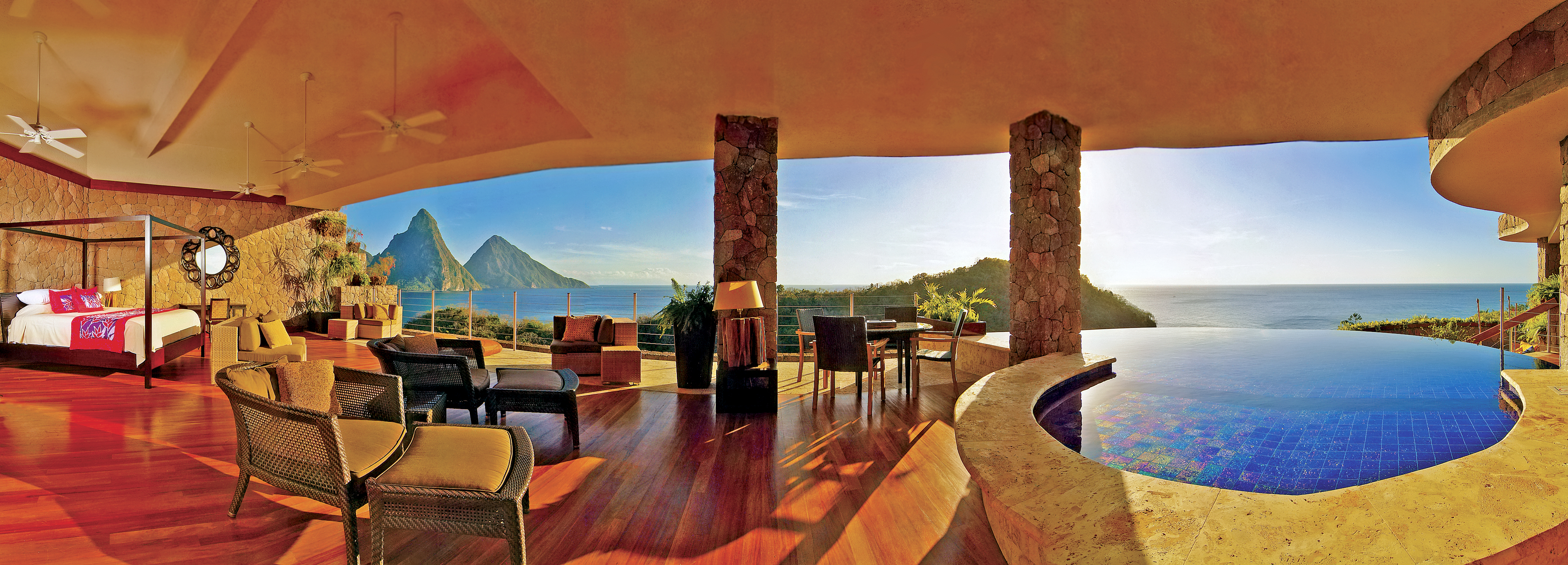 Review of the jade mountain resort amazing st lucia views spot jadepan1 the best view from a brhotel room in the caribbean publicscrutiny Image collections