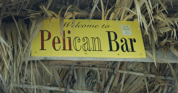 pelican3 5 Cool Caribbean Beach Bars
