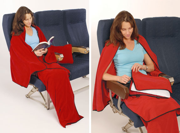 cabin cuddler 1 The Worlds Best Blanket For Airplane Travel