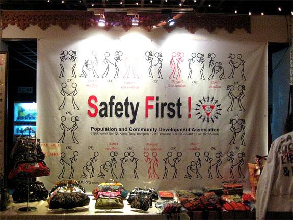 cabages condoms 3 Bangkoks Restaurant of Safe Sex