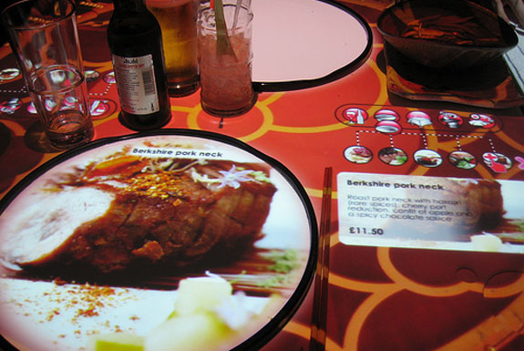 The London Restaurant with Interactive Tables