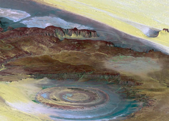 richat structure 3 7 Amazing Circular Geological Oddities