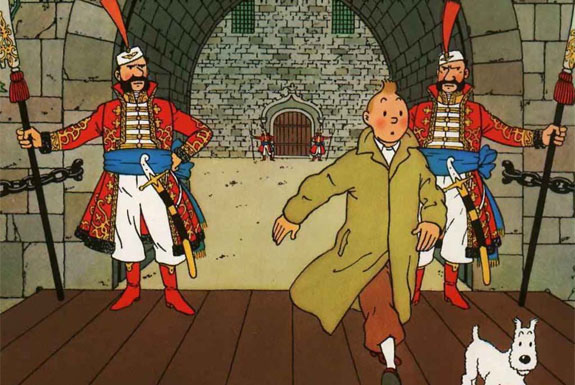 Tintin Goes to the Museum
