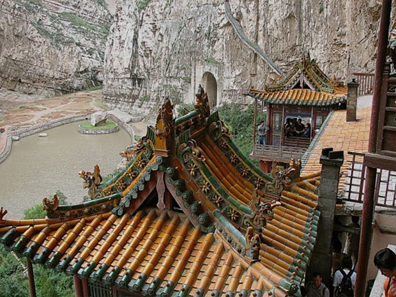 hanging monastry china 2 5 Temples & Monasteries <br>on Perilous Cliff Sides