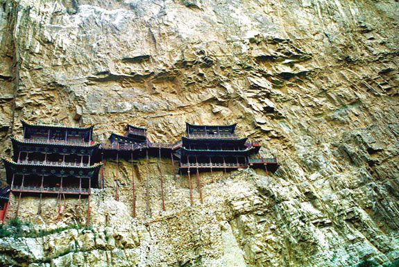 hanging temple china 1 5 Temples & Monasteries <br>on Perilous Cliff Sides