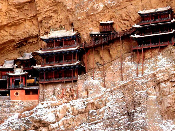 hanging temple china 41 5 Temples & Monasteries <br>on Perilous Cliff Sides