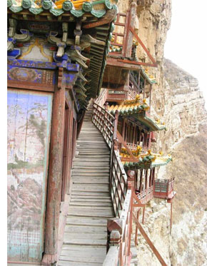 hanging temple china s 5 Temples & Monasteries <br>on Perilous Cliff Sides