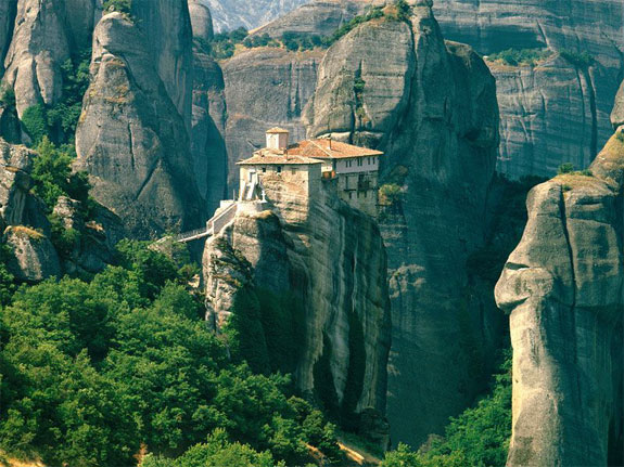 meteora greece 3 5 Temples & Monasteries <br>on Perilous Cliff Sides