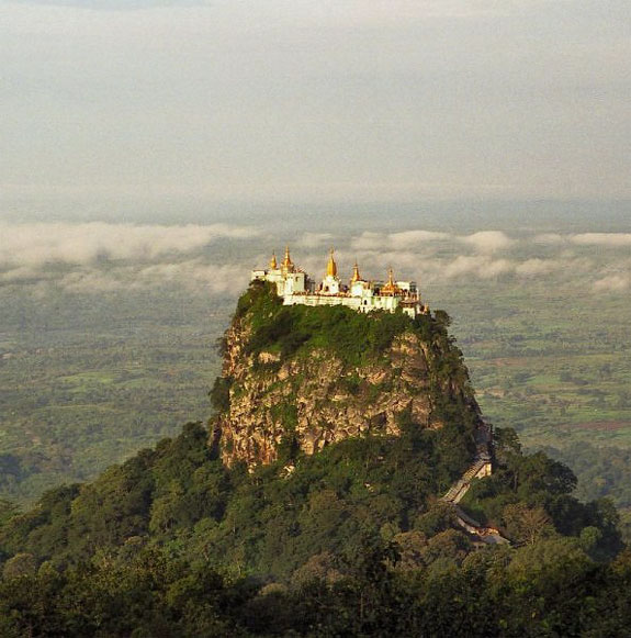 mount popa 1 5 Temples & Monasteries <br>on Perilous Cliff Sides