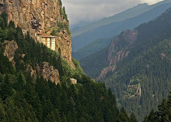 sumela turkey 1 5 Temples & Monasteries <br>on Perilous Cliff Sides