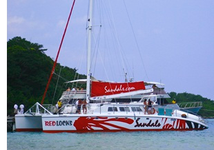 sandals boat The Worlds Most Beautiful, Crowded Waterfall