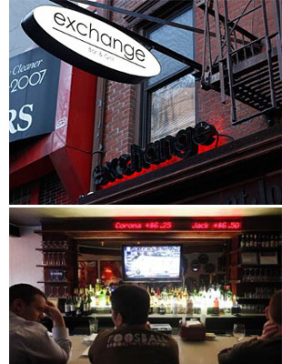 exchange bar s The NYC Bar Where Prices Fluctuate Like Stocks