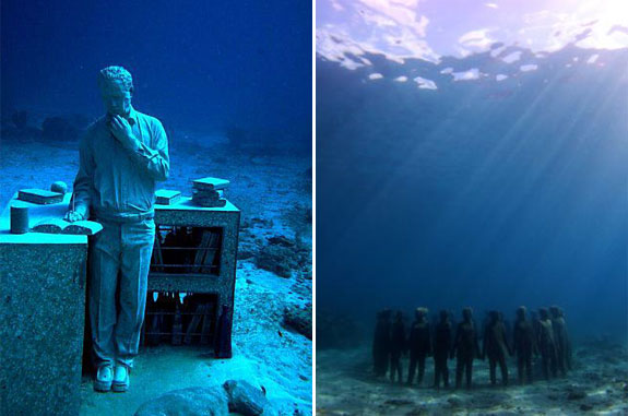 cancun underwater museum 5 The Worlds Largest Underwater Sculpture Park