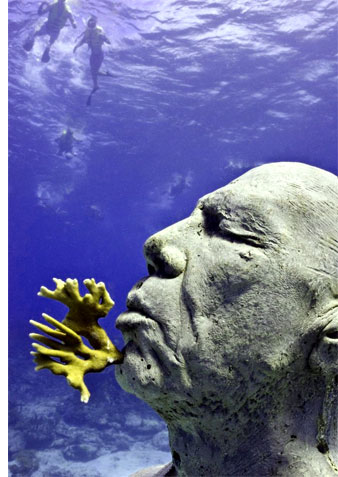 underwater museum s The Worlds Largest Underwater Sculpture Park