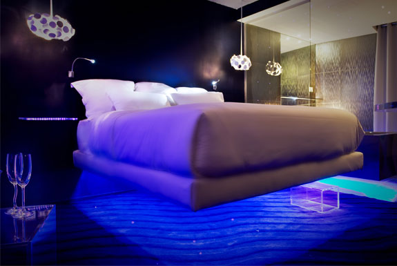 The Levitating Beds, James Bond Stylings of Hotel 7