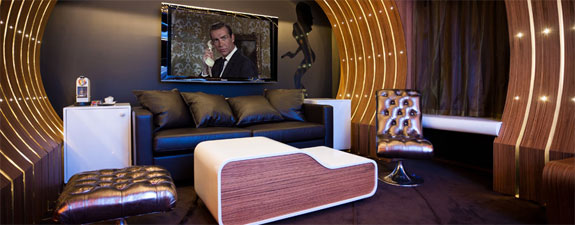 james bond suite The Levitating Beds, James Bond Stylings of Hotel 7