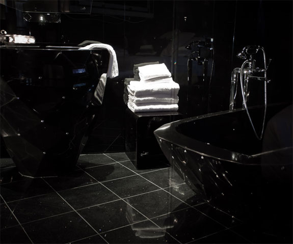 paris seven black room The Levitating Beds, James Bond Stylings of Hotel 7