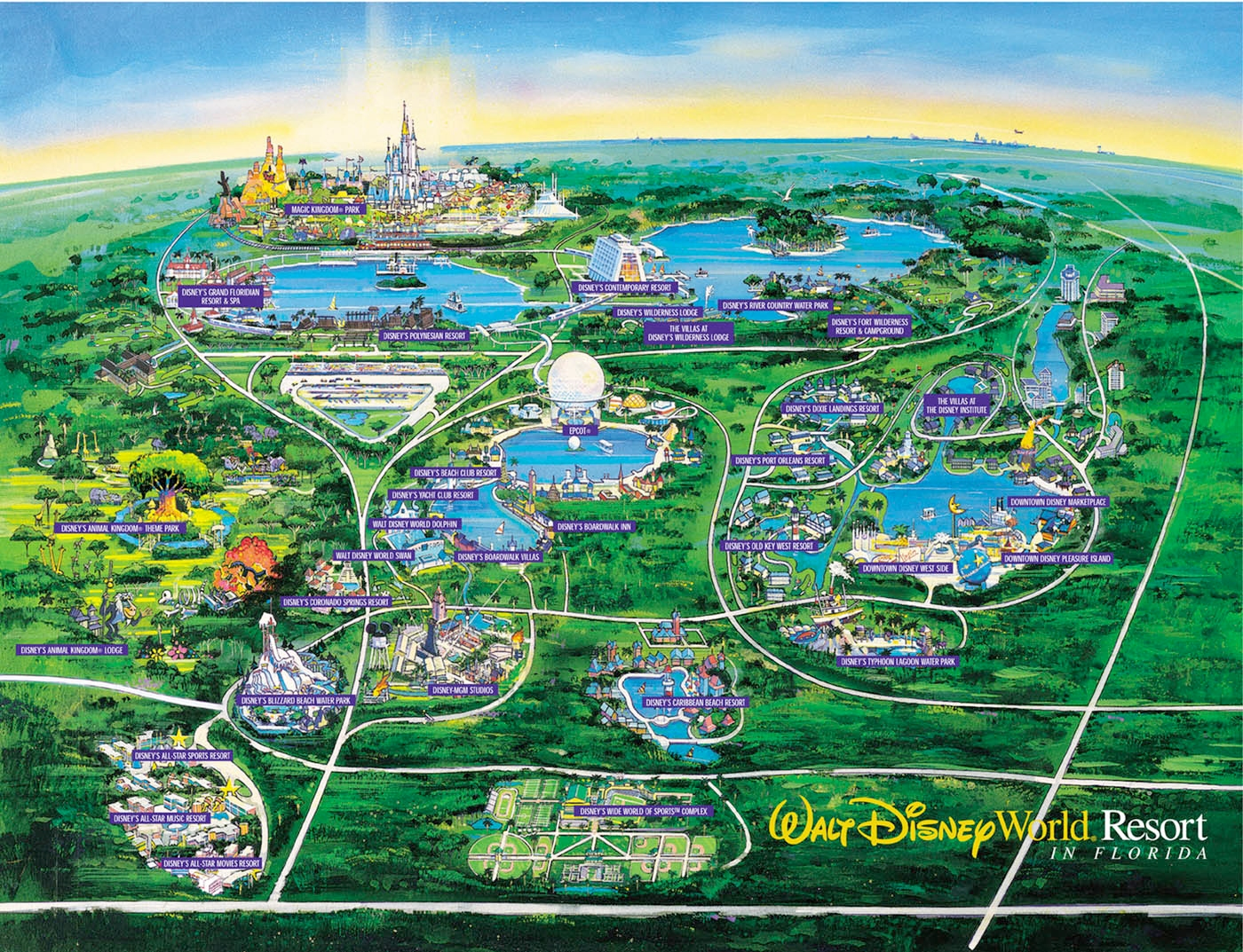 WDW Wall Map | Walt Disney World For Grownups