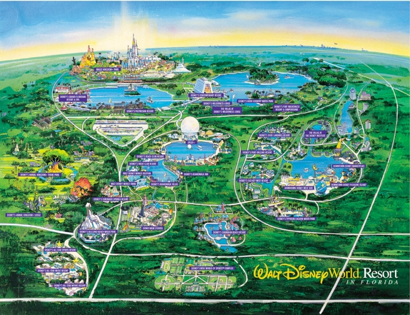 walt disney world resort map sm The Most Luxurious Orlando Hotels with Free Wifi