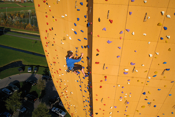 The Worlds Tallest Climbing Wall