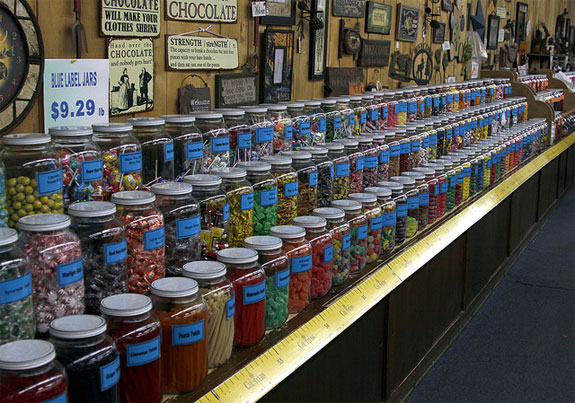 Chutters candy counter The Worlds Best Candy Stores