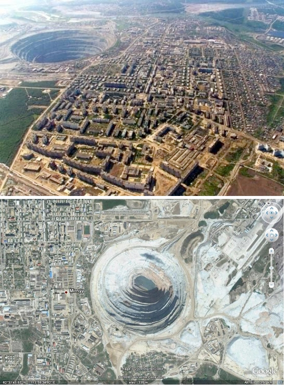mirny mine russia travel 7 Amazing Circular Geological Oddities
