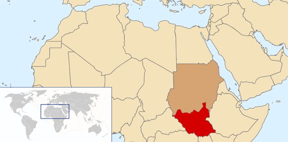 south sudan map South Sudan: The Worlds Newest Country