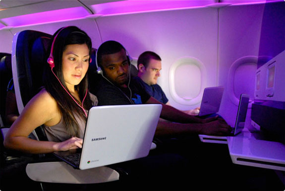 Borrow a Chromebook From <br>Virgin America, Ace Hotel