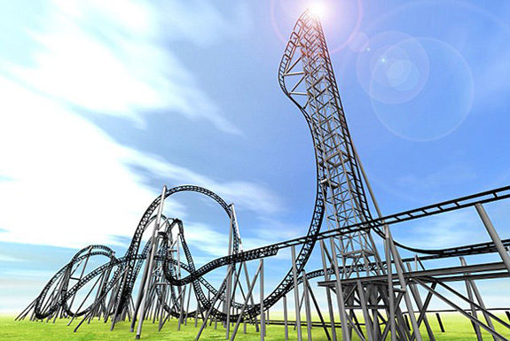 The World's Steepest Roller Coaster