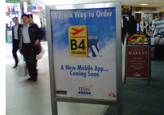 b4youboard app s1 Meals Ordered by Smartphone, <br>Delivered To Your Airport Gate