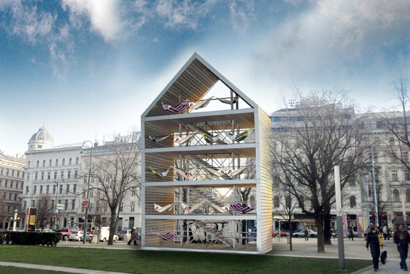 Vienna&#8217;s Public Hammock House