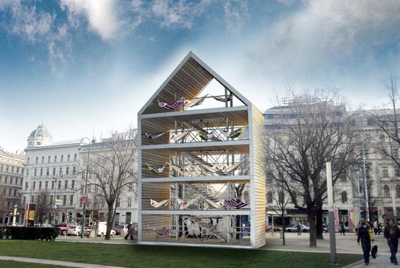 Vienna's Public Hammock House