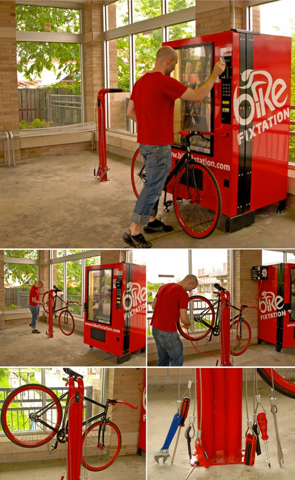 bike fixtation kiosk 6 Cool Bicycle Stores