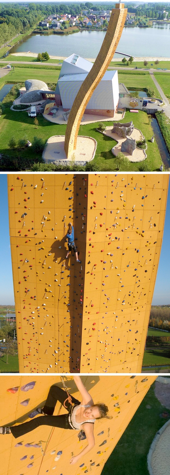 holland worlds highest climbing wall The Worlds Tallest Climbing Wall