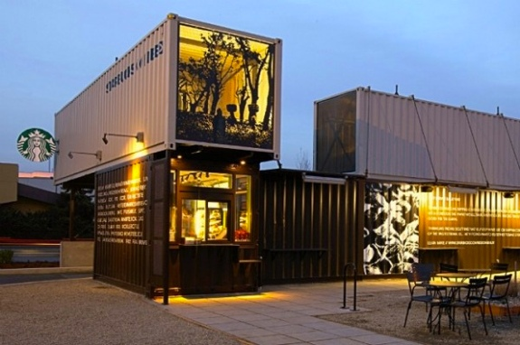 The Shipping Container Starbucks