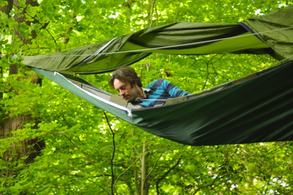 tentsile hammock tent gl&ing 2 The Portable Treehouse ...  sc 1 st  Spot Cool Stuff | Travel & Tentsile: The Giant Suspended Treehouse-Tent-Hammock | Spot Cool ...