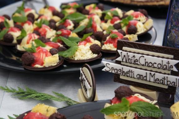 chocolate spaghetti meatballs 1 575x382 At Keystone TBEX 2012, <br>Dessert Looks Like Regular Food