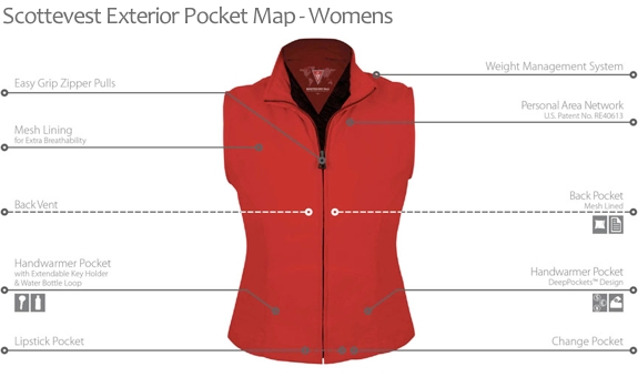 travel vest review womens exterior 2 Scottevest Designs the Ultimate, Pocket full Travel Vest