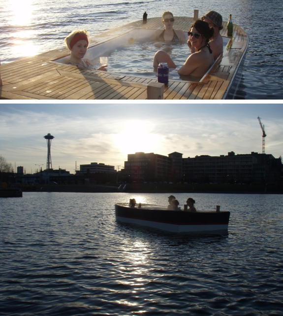 hot tub boat seattle How To Go Boating in a Hot Tub