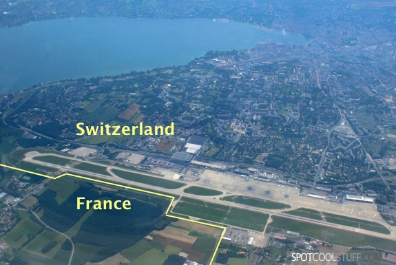 geneva airport france switzerland border Genevas International International Airport