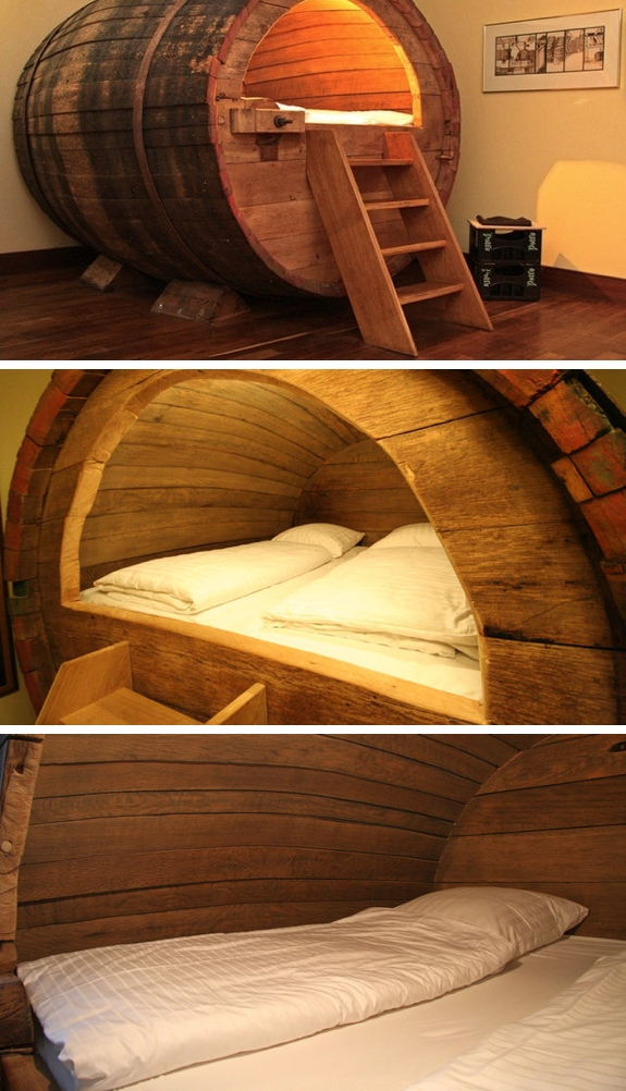 travel beer barrel bed room germany Our Favorite Room Themes at the Landhotel Hof Beverland