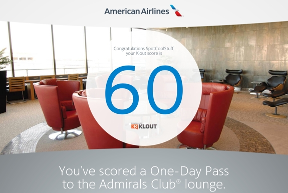 Use Your Klout to Access American Airlines' Lounges