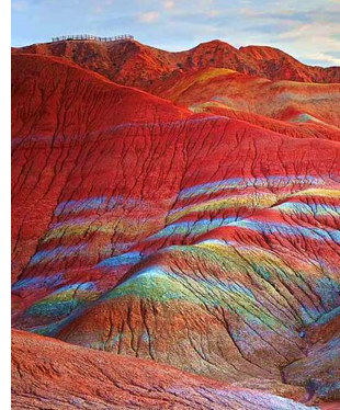 danxia gansu hiking platform s Chinas Pastel Painted Mountains