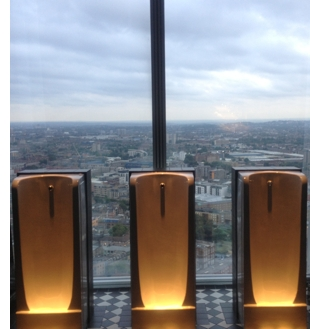 aqua shard bathroom view The Shard Lifts London Restaurants to New Heights