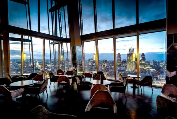 aqua shard london 575x388 The Shard Lifts London Restaurants to New Heights