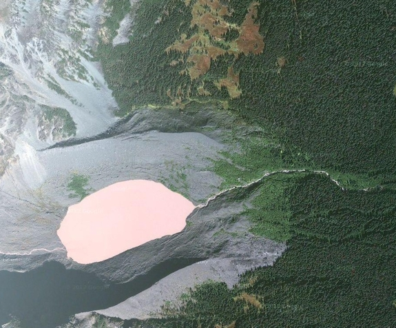 dusty rose lake bc Pink Lakes of the World