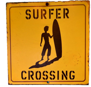 surfer crossing sign s Sponsored Video: Surfing Montauk